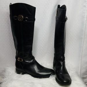 Ladies Tory Burch Black Riding boots sz 9.5